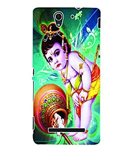 ColourCraft Lord Krishna Back Case Cover for SONY XPERIA C3 D2533