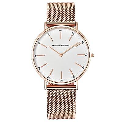 Reloj De Diseño Pagani Con Cristal De Cuarzo - Reloj Impermeable - Reloj Clásico Con Correa De Cuero Suave - Reloj Analógico