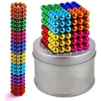 FRONTED Balls for Kids Magnetic Stainless Steel Solid Toy 216 Pcs 5MM 8 Colors Magnets Educational Toys 12 Years Old…