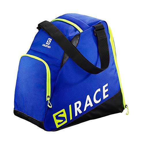 Salomon, Sac à Chaussures de Ski Pratique et Spacieux EXTEND GEARBAG, Bleu (Race Blue)/Jaune Fluo (Neon Yellow SCFL), NS, LC1170000