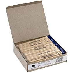 Rexel Office Pencil - Pack de 144 lápices HB (madera natural), color marrón