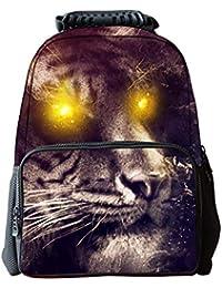 54876a4256 LAWLAI Zaino Bambini 3D Tigre Borsa Scuola Outdoor Travel Personalità Borse  Multifunzione,C