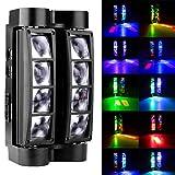 8x10W DMX512 RGBW Kopf bewegliches Licht drehbare LED Mini Spider Stage Disco Lichtstrahl Licht Effekt Lampe Farbe ändern Auto läuft 9 / 15CH (2 PACK)
