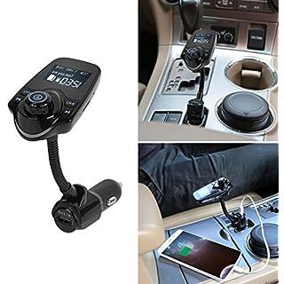 GPCT Bluetooth Wireless [Freisprechen] built-in-mic FM Radio Transmitter KFZ Ladegerät Adapter Kit. TF/SD Card Slot/aux- iPhone 7/6S/6Galaxy S7/S6/HTC/Nokia/iPad/Windows Android Smart Handy