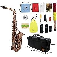 ammoon Profesional Red Bend Bronce Eb E-flat Alto saxofón Abulón Shell Dominante Patrón Carve con el Caso Guantes Paño de Limpieza Correas Grasa Cepillo