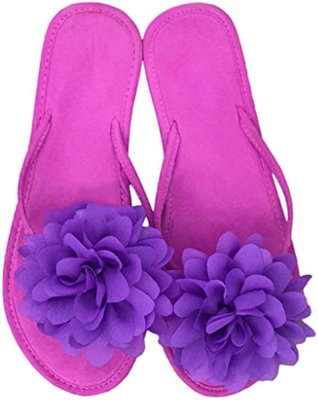Chanclas Sandalias Slip-On para Mujer Chicas Leisure Zapatillas con Tacón Plano En Verano para Playa Zapatos De...