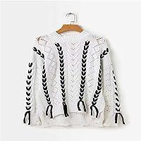 Señoras Sueter De Punto, Suéter Suelto Ahuecado,Blanco,Código Uniforme