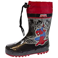 Marvel Boys Ultimate Spiderman Rubber Tie Top Wellington Boots