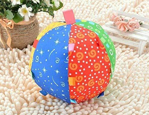 ⚡ YZWJ Ball Bell Kinder Multicolor Spielzeug Baby Hand Ball Klumpen Neugeborenen Drehmaschine Hängen Rassel 04.22