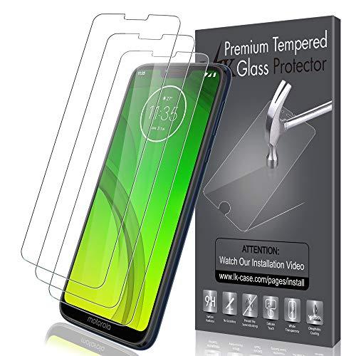 LK [3 Stück] Schutzfolie für Motorola Moto G7 Power, Motorola Moto G7 Power Panzerglasfolie, Gehärtetem Glas ,Bildschirmschutz Screen Protector [Lebenslanger Ersatz Garantie]