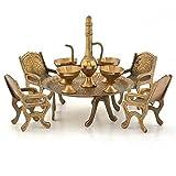 The Hue Cottage Table maharaja mettre artisanale laiton fleuron table à manger décoration figurine des articles de cadeau indien