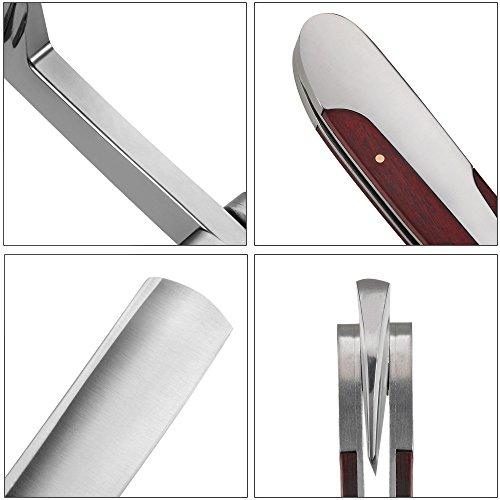 LUWANZ Klapp Rasiermesser aus Edelstahl & Streichriemen & Rasiermesser Etui Abbildung 3