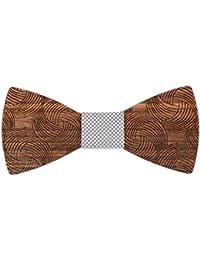 22a61b4b42848 Mr.Van Noeud Papillon en Bois, Mode Classique Hommes Réglable Mariage De  Smoking Cravate