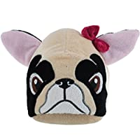 Kidsway Girls Novelty Pug Dog Slippers (8/9 Child UK) Beige