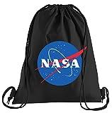 Touchlines NASA Logo Sportbeutel – bedruckter Turnbeutel mit Kordeln