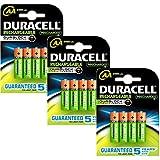 Duracell Duralock Akku PreCharged (AA, HR6, 1,2 Volt, 2400mAH) 12 Stück