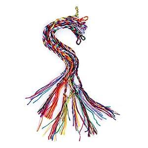 9pcs Bracelets Brésiliens Bracelets de Cheville Bracelet Hippie Fil Tressé Coloré - Couleur Aléatoire