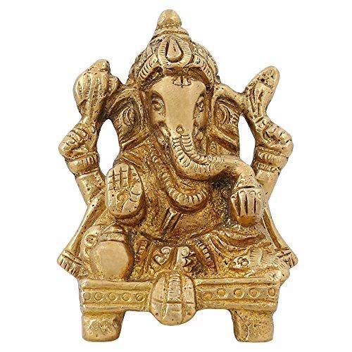 Articoli religiosi piccola statua di Ganesha per il regalo Indian Home Décor Ottone 2,75 pollici - religiosi Articoli