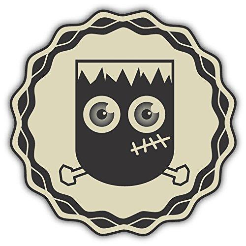Happy Halloween Frankenstein Zombie Retro Hochwertigen Auto-Autoaufkleber 12 x 12 cm