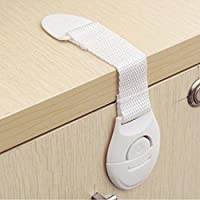 Westeng Baby Safety Locks Adjustable Strap Child Proof for Cabinets Drawers Appliances Toilet Fridge Multi-Purpose Use