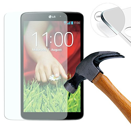 Lusee 2 x Pack Panzerglasfolie Schutzfolie für LG G PAD 8.3 V500 Bildschirmschutz Tempered Glass Folie Screen Protector Panzerfolie Glasfolie 0,3 mm 9H Clear 2.5D