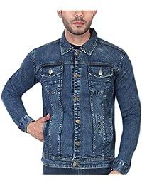 Ico Blue Stor Full Sleeve Solid Men Washed Denim Jacket