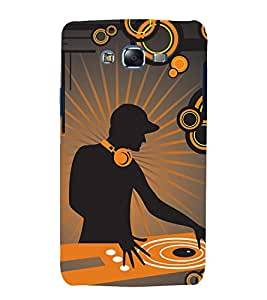 printtech Music DJ Abstract Back Case Cover for Samsung Galaxy A8::Samsung Galaxy A8 A800F