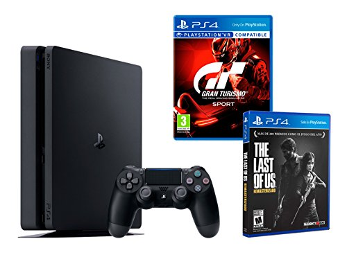 PS4 Slim 1Tb Negra Playstation 4 Consola...