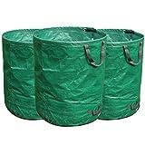 FLORA GUARD 3X 272L Gartensack, Gartenabfallsäcke Professional aus Robustem Polypropylen-Gewebe (PP)