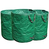 FLORA GUARD 3X 272L Gartensack, Gartenabfallsäcke Professional aus Robustem Polypropylen-Gewebe