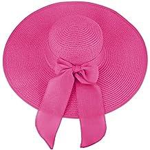 Sombrero de disquete Summer Beach Sombreros de paja de Sun Sombrero de  protección anti-UV 244dbe57c4f