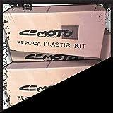 Kit plastiques 7Pcs Avec tableau avant Noir Cross Enduro cemoto pour Yamaha YZF...
