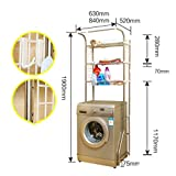 GW Edelstahl Trommel Waschmaschine Regal Balkon Badezimmer WC Multifunktionale Lagerregal,XS