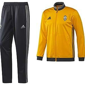 Adidas Juve PES Suit Tuta da Ginnastica, Uomo, Oro/Grigio (Doruni/Griosc/Grpuch), S