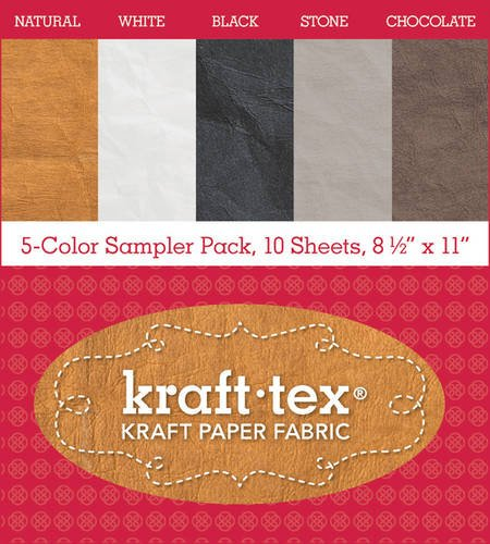 kraft-texr-5-color-sampler-pack-10-sheets-8-1-2-x-11-kraft-paper-fabric-kraft-tex-kraft-paper-fabric