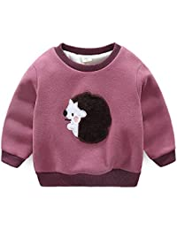 J-TUMIA Chaqueta de Abrigo para niños Camiseta de Cuello Redondo para niños pequeños para