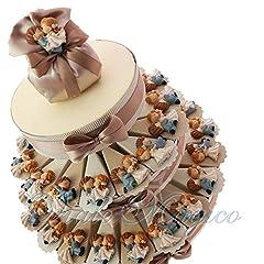 Idea Regalo - Torta Bomboniere Matrimonio con Magnete Sposi 60 PEZZI (180220)