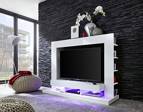 trendteam 1561-001-01 Mediawohnwand Weiß Glanz, BxHxT 164x124x46 cm - 2