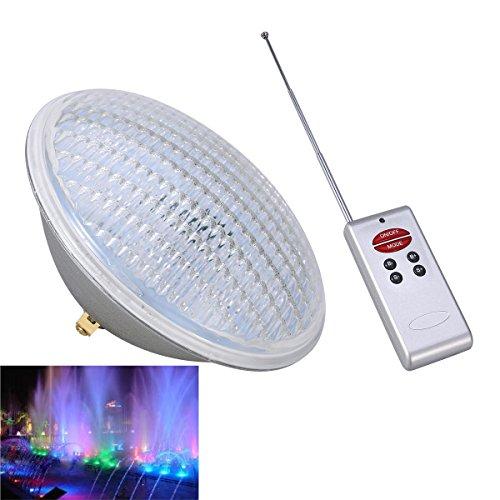 LEDMOMO RVB Lumière sous-marine 45W Lumière pour Décoration Eclairage Pond Eclairage avec Télécommande (Argent)