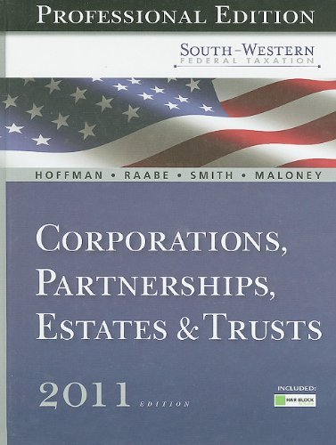 south-western-federal-taxation-2011-corporations-partnerships-estates-and-trusts-professional-versio