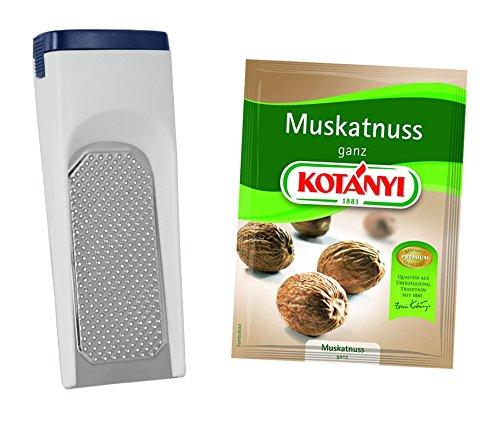 METALTEX Muskatreibe MUSCADE + KOTANYI Muskatnuss ganz Brief 9 g -