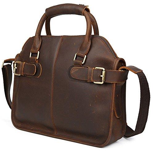 COWOCC Sacs business Sac Serviette New Porte-documents en cuir pour les hommes Casual Vintage sac à bandoulière Yuppie Style sac d'ordinateur portable Limited Edition