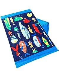 Toalla de baño para niños, ANGTUO 100% algodón con capucha Toalla de baño Toalla de playa Toalla de playa para…