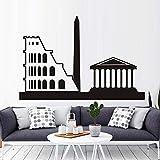 195 x 75 x 72 Pelle EGLEMTEK Roma Divano 3 Posti in Pelle Moderno Elegante Colore Nero Casa Ufficio Soggiorno Studio Salotto