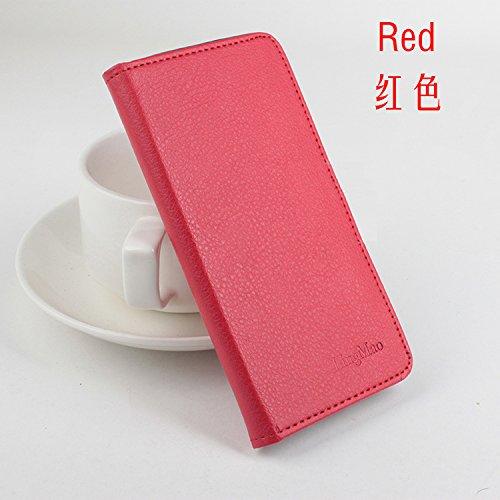 LingMao Easbuy Pu Leder Kunstleder Flip Cover Tasche Handyhülle Case Mit Karte Slot Design Hülle Etui für Oukitel K6000 Plus Smartphone Handytasche