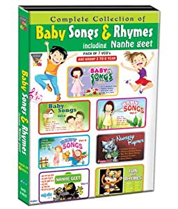 Baby Songs & Rhymes (Including Nanhe Geet) (Set of 7 VCDs - Babby Songs - Vol. 1 to 4/Nursery Rhymes/Nanhe Geet - Vol. 1/Fun with Rhymes)