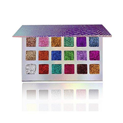 Oyalaiy 18 couleurs Palette Ombre à Paupières Paillettes Pigment Texturé Glitter fard à paupières Glitter eyeshadow Beauté Maquillage