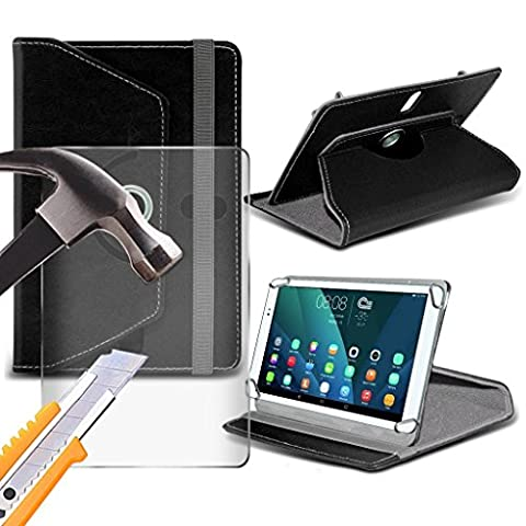 (Black) Motorola Xoom 2 [10 inch ] Case [Stand Cover] for Motorola Xoom 2 [10 inch ] Tablet PC Case Cover Tablet [Stand Cover] Durable Synthetic PU Leather 360 Roatating cover Case [Stand Cover] with 4 springs WITH GENUINE TEMPERED GLASS SCREEN PROTECTOR by i- Tronixs®