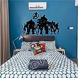 Vengadores: Calcomanía de pared de superhéroes de Endgame Habitación para niños Sala de juegos Dormitorio Decoración de vinilo Decoración para el hogar Etiqueta de pared # 58 X 36 CM