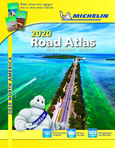 Michelin North America Road Atlas 2020: Usa, Canada and Mexico (Michelin Road Atlas) por Michelin Travel Publications